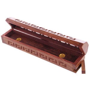 Wooden Incense Stick/Cone Burner Ash Catcher Box