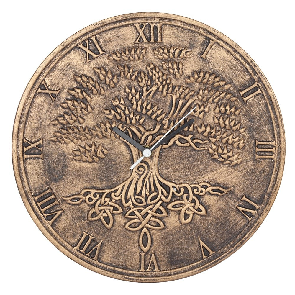 TERRACOTTA TREE OF LIFE CLOCK BY LISA PARKER