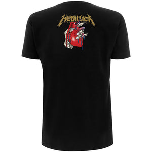 METALLICA UNISEX TEE: HEART EXPLOSIVE (BACK PRINT) - LARGE ONLY