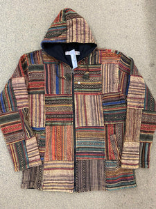 Patchwork Jacket Fleece Lined - MEDIUM ONLY