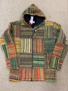 Patchwork Jacket Fleece Lined - LARGE ONLY