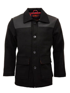 Donkey Jacket with PVC - Black