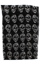 Load image into Gallery viewer, Skull Print Scarf - BLACK