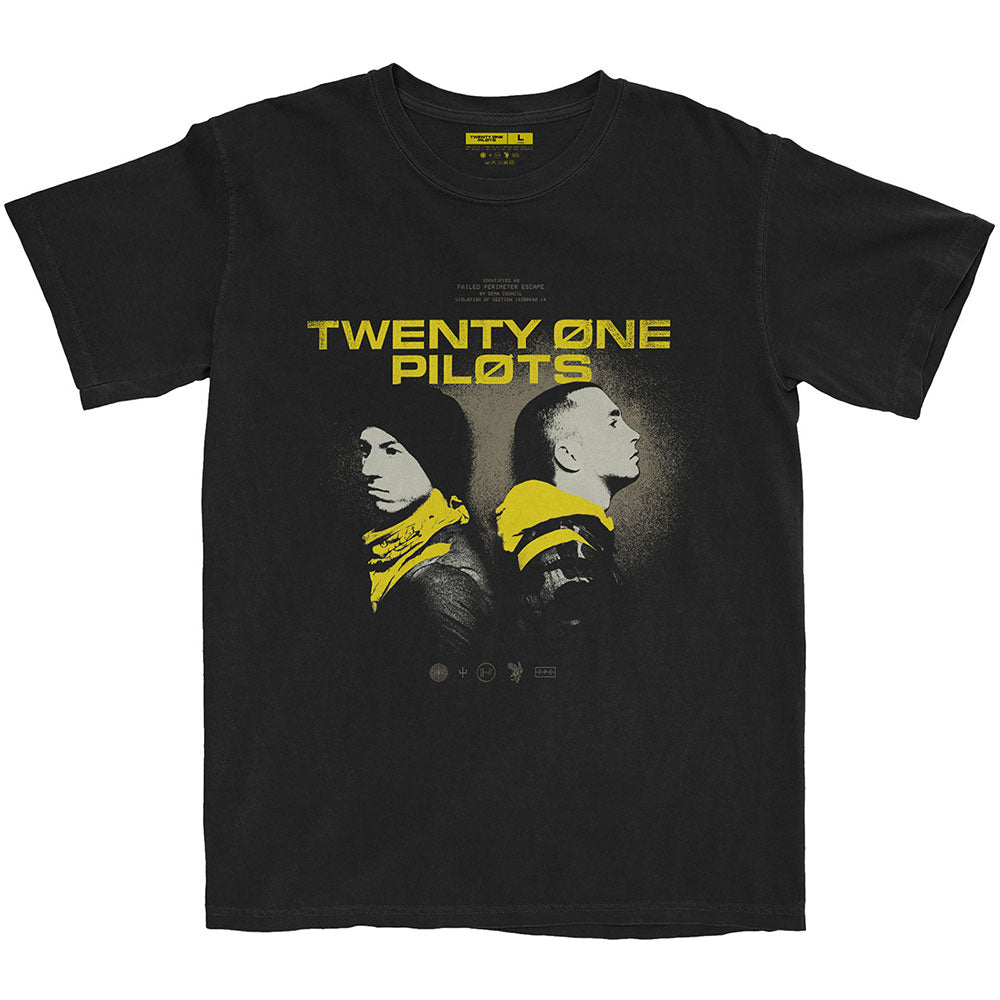TWENTY ONE PILOTS UNISEX TEE: BACK TO BACK