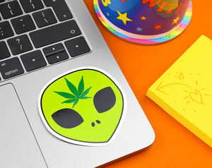 ALIEN WEED VINYL STICKER