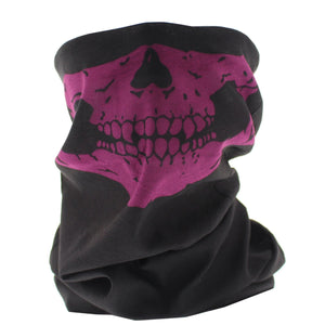 Black+Purple Skeleton Mouth Snood/Face Covering