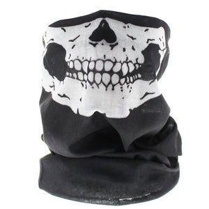 B+W Skeleton Mouth Snood/Face Covering