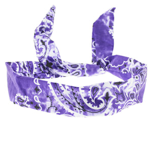 Acid Wash Paisley Design Wire Headband (3 COLOURS)
