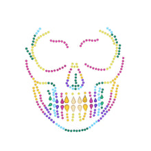 Load image into Gallery viewer, Scary Skeleton Rainbow Halloween Face Gems Set