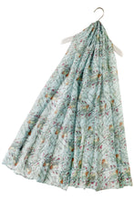 Load image into Gallery viewer, Robin Bird on Branch Print Scarf -  BABY BLUE