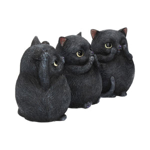 Three Wise Fat Cats 8.5cm