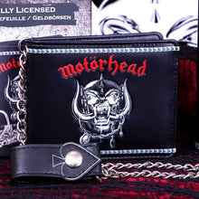 Load image into Gallery viewer, Embossed Motorhead War Pig Ace of Spades Chained Wallet