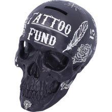 Load image into Gallery viewer, Black and White Traditional, Tribal Tattoo Fund Skull