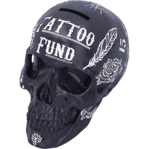 Black and White Traditional, Tribal Tattoo Fund Skull