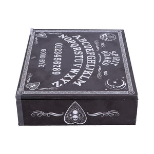 Black and White Spirit Board and Planchette Jewellery Storage Box with Mirror