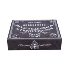 Load image into Gallery viewer, Black and White Spirit Board and Planchette Jewellery Storage Box with Mirror