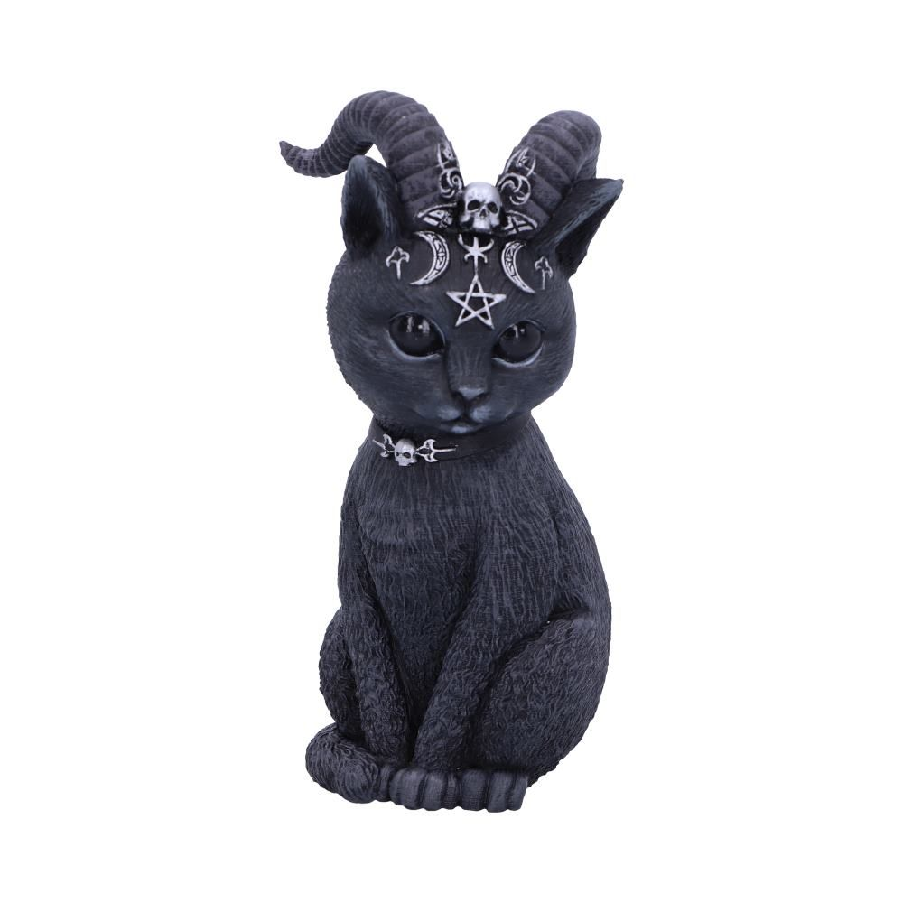 Pawzuph Horned Occult Cat Figurine