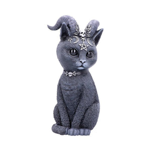 Large Pawzuph Horned Occult Cat Figurine