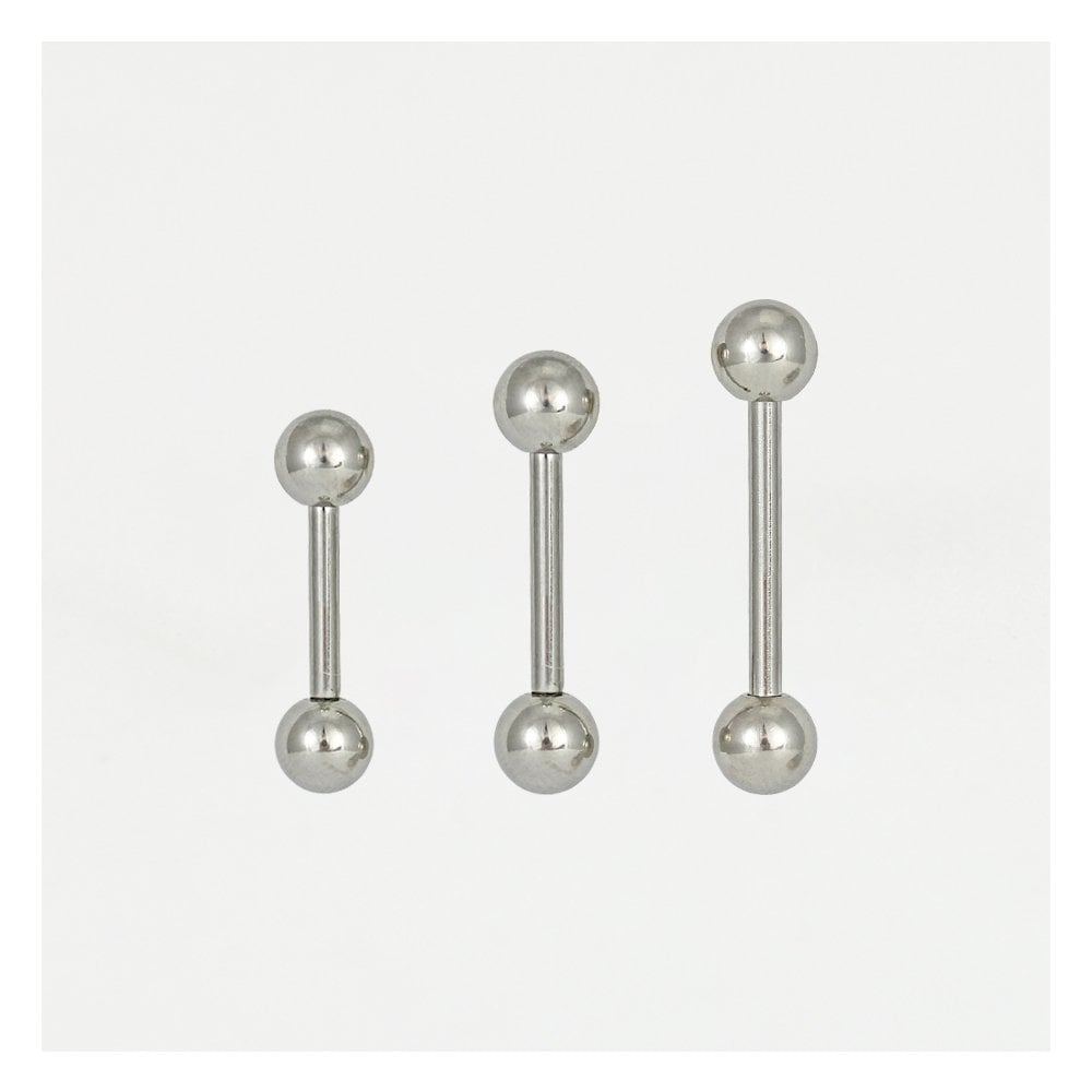 Tongue/Nipple Steel 1.6mm Barbell 316L Surgical Steel