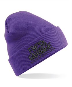 The FRESH GARBAGE Embroidered Beanie Hat - 10 COLOURS !