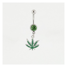 Load image into Gallery viewer, Green Cannabis Leaf Belly Bar