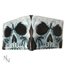 Load image into Gallery viewer, Embossed Gothic Skull Wallet