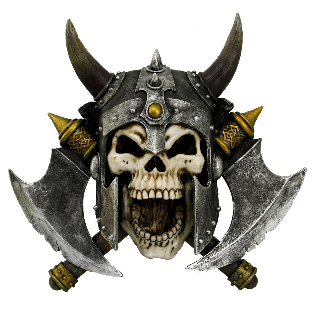 Valhalla's Vengeance Skeleton Viking Wall Plaque