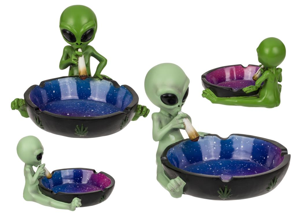 Alien Ashtray with Joint