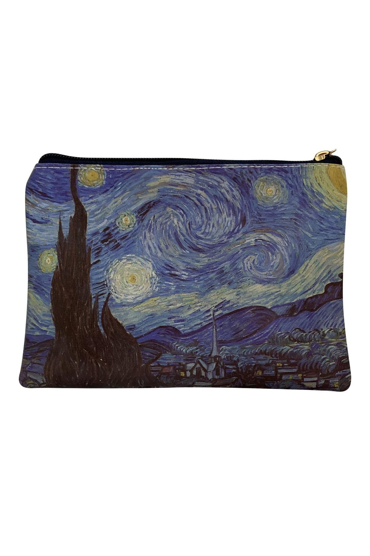 Van Gogh Starry Night Print - Mini Clutch Bag