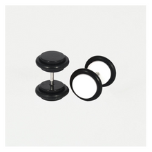 Load image into Gallery viewer, Black or White Fake Ear Plug - 8mm