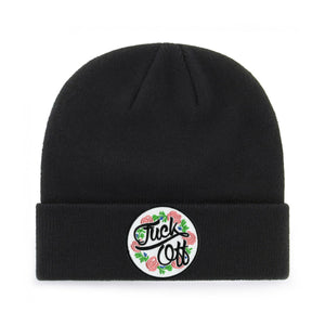 FUCK OFF FLORAL BEANIE