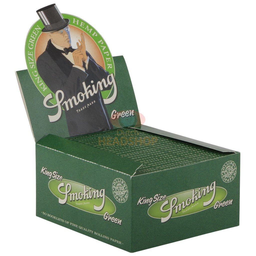 Smoking Green 100% Hemp King Size Papers