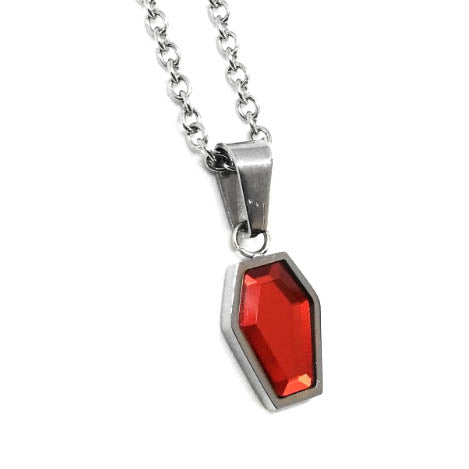 Blood Red Coffin Necklace