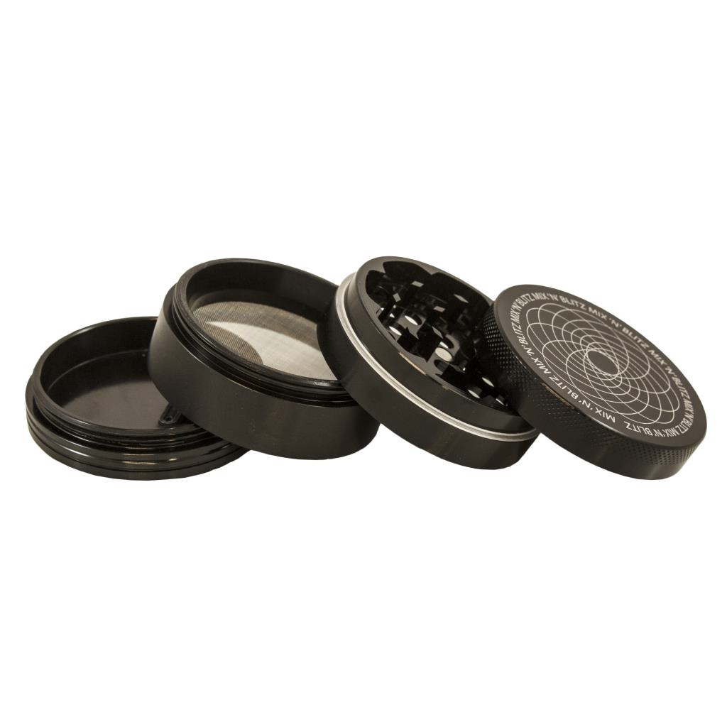 MIX N BLITZ 40mm 4 Part Grinder - BLACK