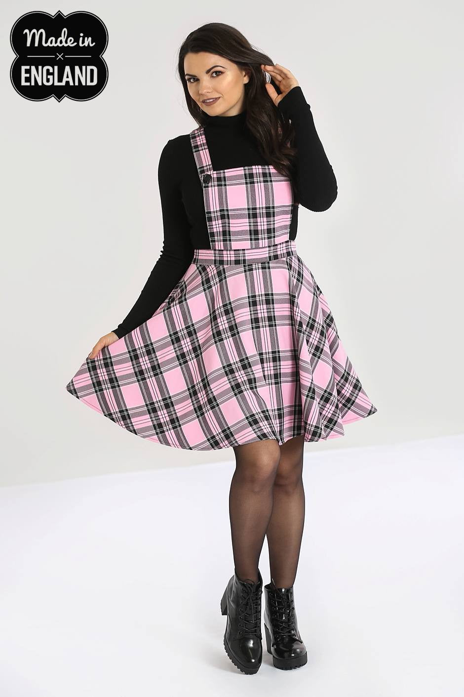 ISLAY PINAFORE DRESS - PINK