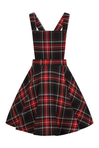 ISLAY PINAFORE DRESS- RED