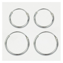 Load image into Gallery viewer, Sterling Silver Hoop Earrings 8mm - 16mm