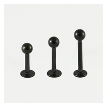 Load image into Gallery viewer, Labret 1.2mm & 1.6mm  PVD Black Steel