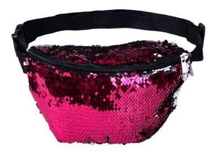 Pink Sequin Bum Bag
