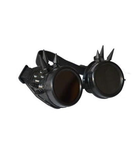 Black Steampunk Goggles with Spikes & Black Lenses