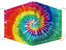Load image into Gallery viewer, Face Mask - Rainbow Tie Dye