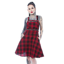 Load image into Gallery viewer, MAUDE Pinafore - Red Check