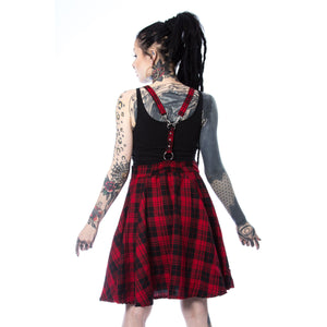 MAUDE Pinafore - Red Check