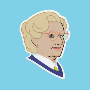 MRS DOUBTFIRE STICKER