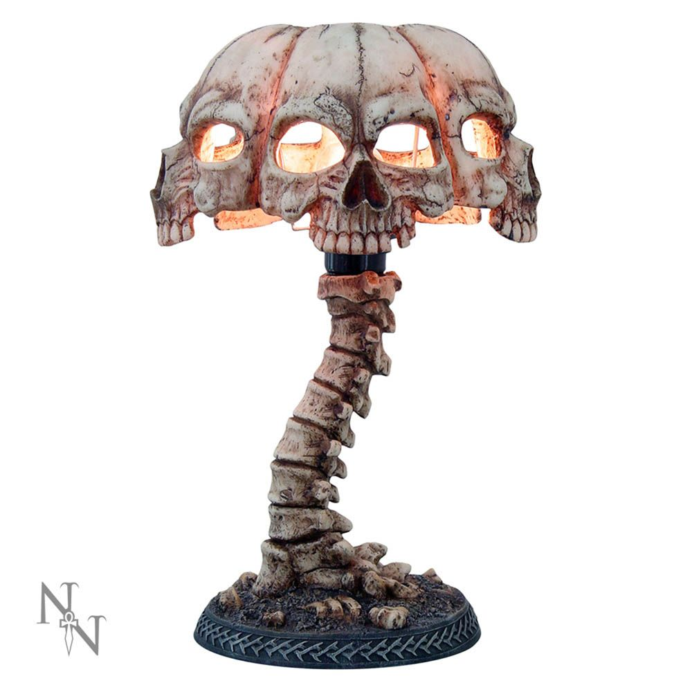 Atrocity Natural Bone Skull and Spine Lamp