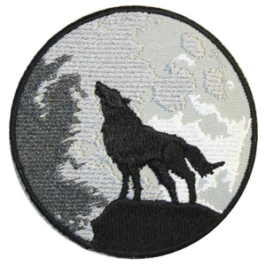 Wolf And Moon Patch