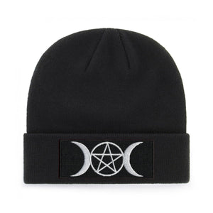 PENTAGRAM AND MOONS BEANIE