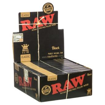 RAW BLACK Classic King Size Papers