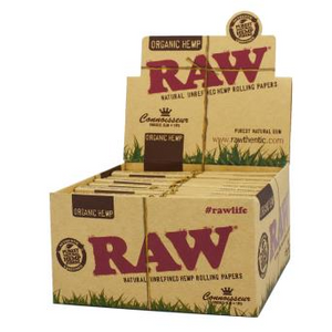 RAW Organic Hemp King Size Papers + Roach