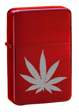 Load image into Gallery viewer, High Polished Red Ice Hash Leaf – Zippo Style